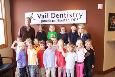 The team at Vail Dentistry love teaching children about dental health!