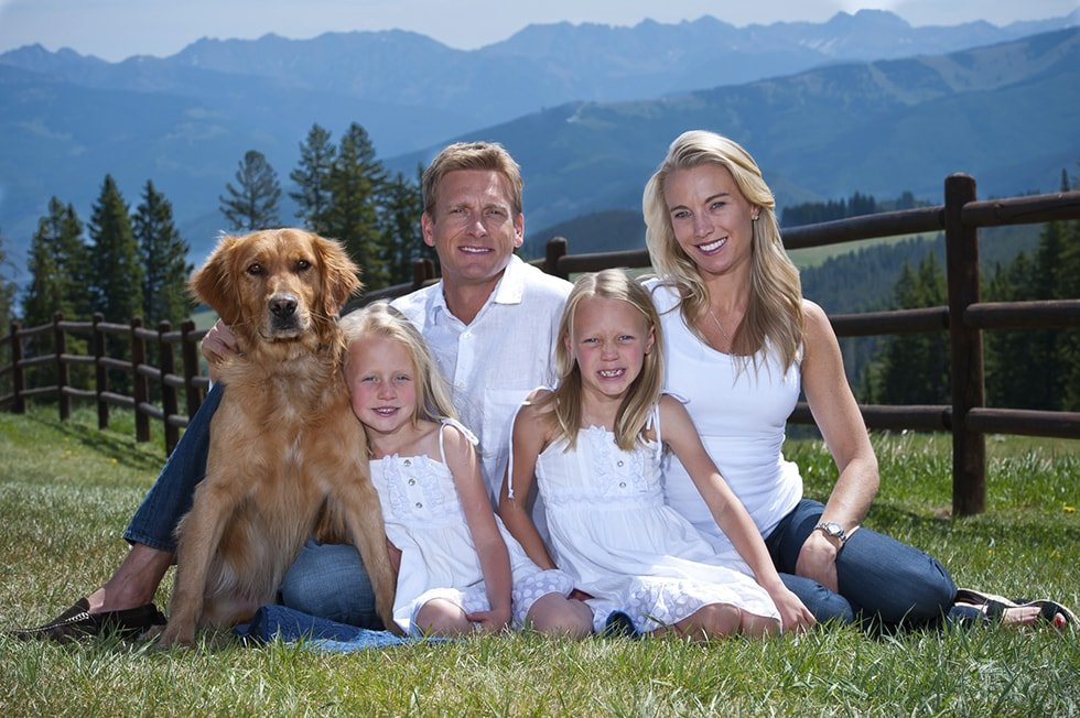 Dr. Haerter and his family in Edwards, Colorado.