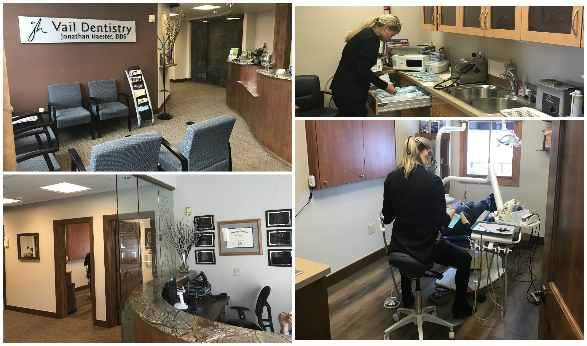 Collage of the Vail Dentistry office