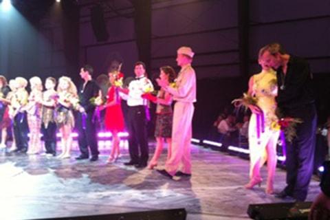 Dr. Haerter dancing in the 2010 Star Dancing Gala