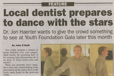 Dr. Haerter being featured in the paper about his prep work for the Gala.