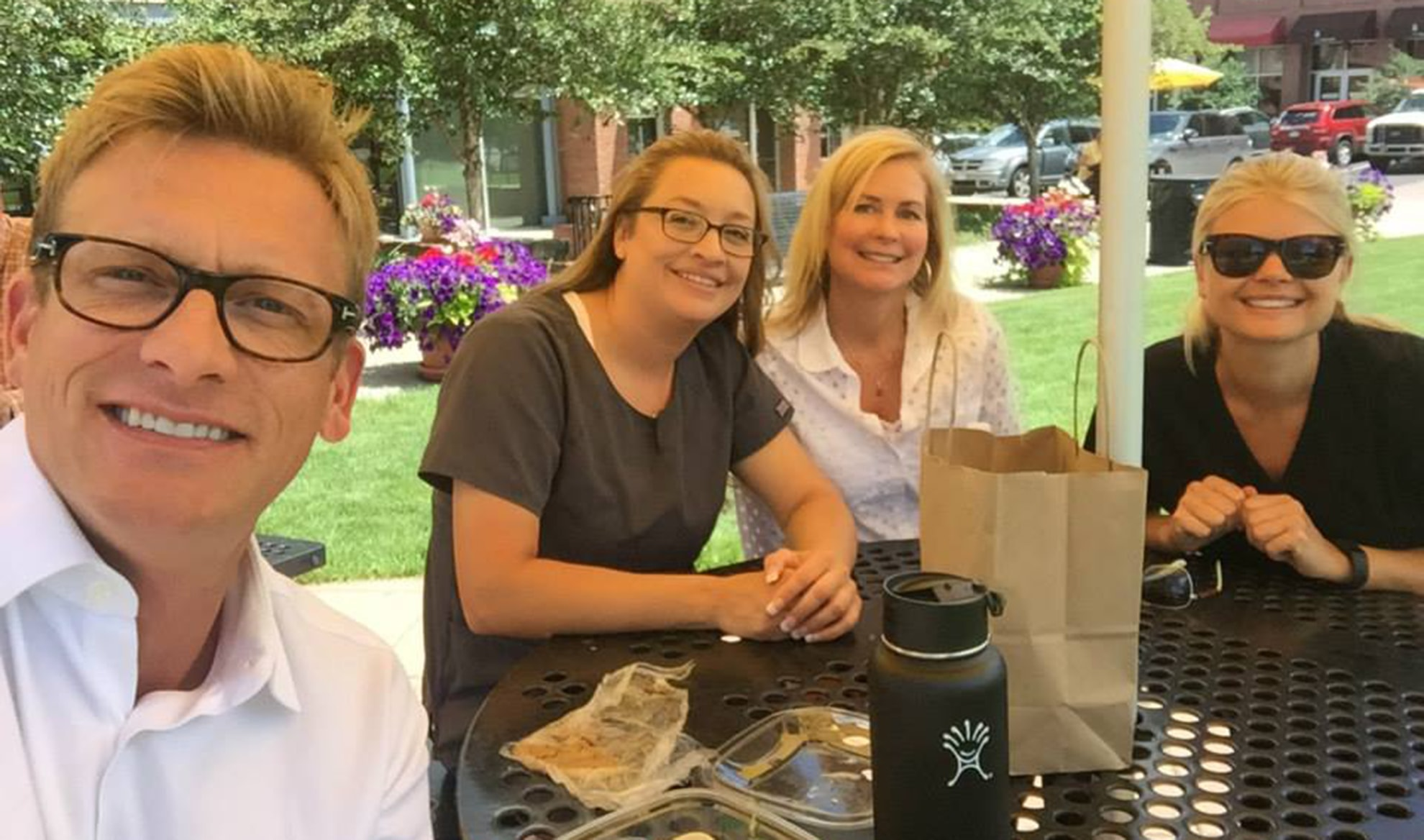 The Vail Dentistry team having lunch in the Edwards community