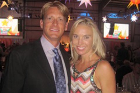 Dr. Haerter and wife Bethany at Star Dancing Gala 2011