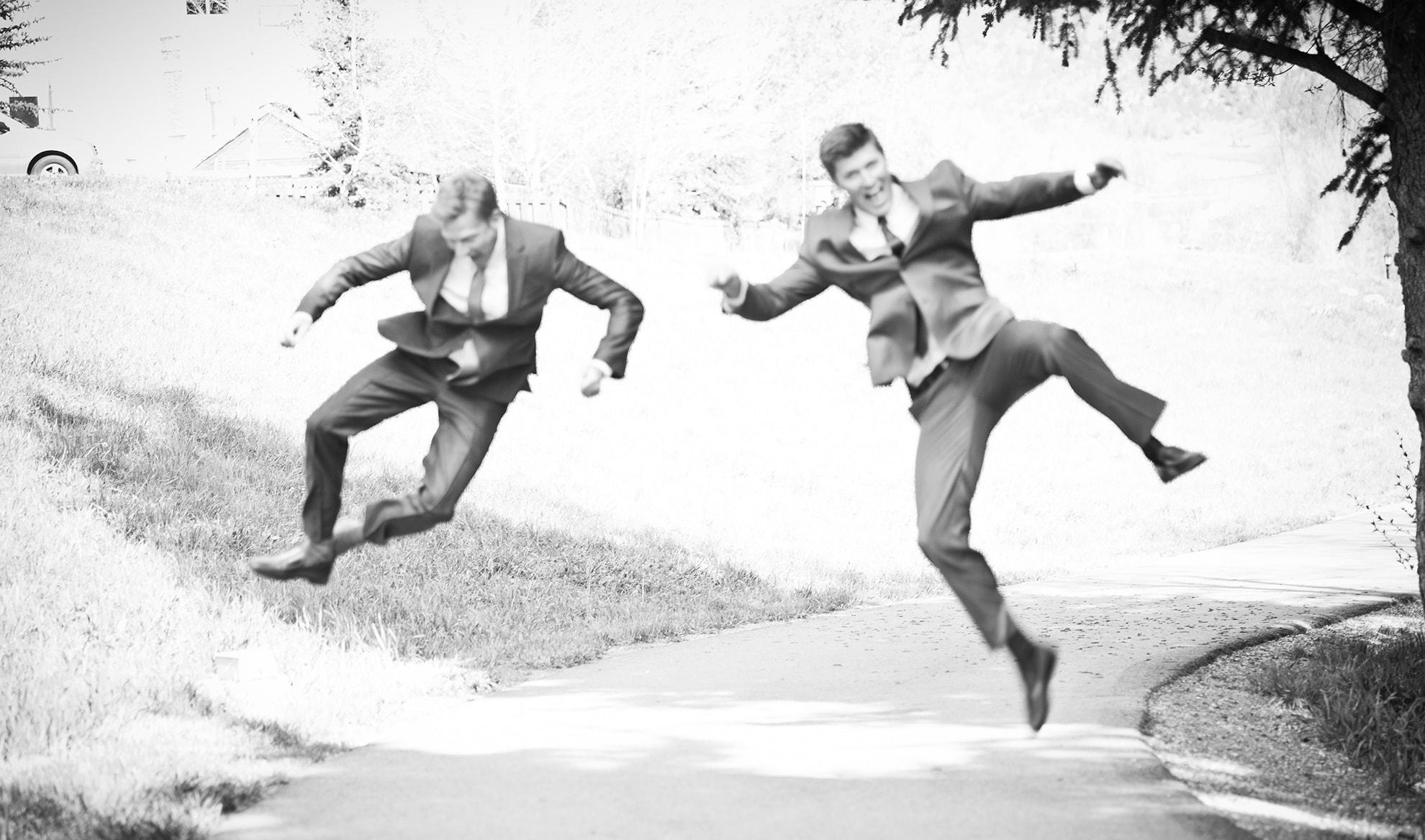 Dr. Jonathan Haerter and Dr. Matthew Hawn having fun.