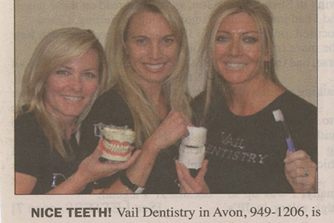 Vail Dentistry's technology and experience are featured in a local newspaper
