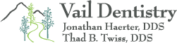 Vail Dentistry scroll logo