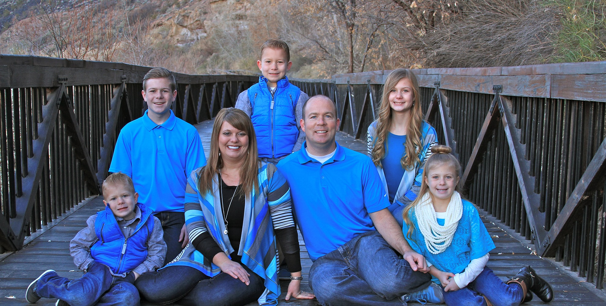 Dr. Thad Twiss and his family